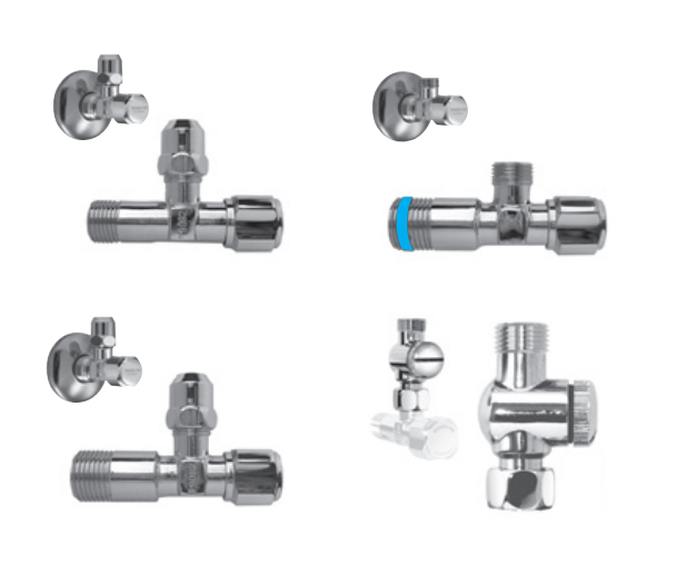 """Valve With Filter 1//2x1//2/"""" 1//2x3//8/"""" 1//2x3//4/"""" with sieve and Rosette Valves"""